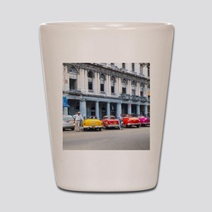 Cars of Havana Shot Glass