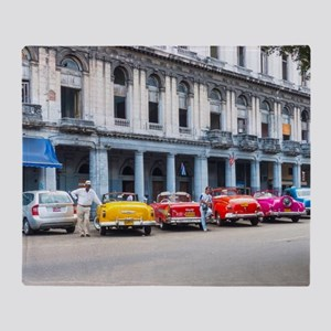 Cars of Havana Throw Blanket