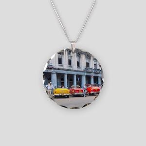 Cars of Havana Necklace Circle Charm