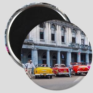 Cars of Havana Magnet