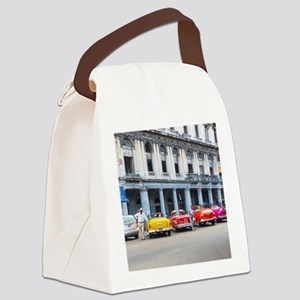Cars of Havana Canvas Lunch Bag