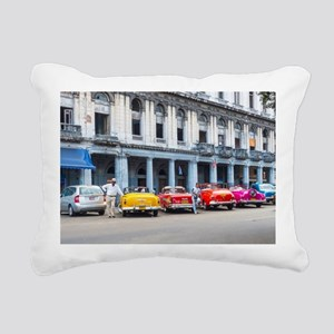 Cars of Havana Rectangular Canvas Pillow