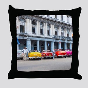 Cars of Havana Throw Pillow