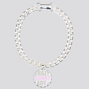 CRAZY BUNNY LADY 2 CLEAR Charm Bracelet, One Charm