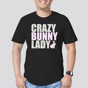CRAZY BUNNY LADY 2 CLE Men's Fitted T-Shirt (dark)