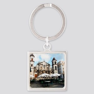 cathedral Sq Square Keychain