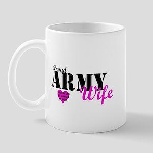 Army Wife Pink  Mug