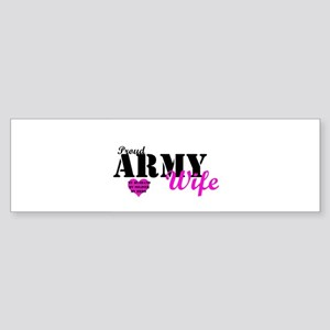 Army Wife Pink Bumper Sticker