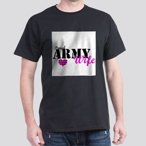 Army Wife Pink  Dark T-Shirt