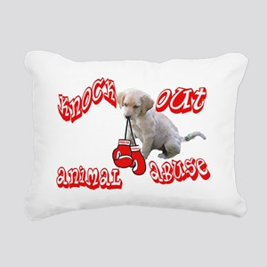 Knock out animal abuse2 Rectangular Canvas Pillow
