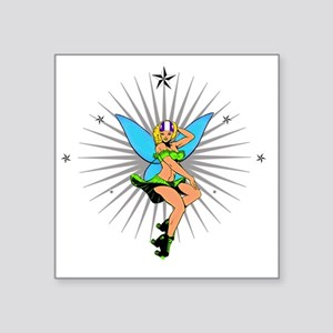 "DERBY_GIRL_TINK Square Sticker 3"" x 3"""