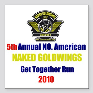 "get-together-run-2010 Square Car Magnet 3"" x 3"""