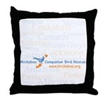 Background Species Throw Pillow