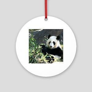 panda2 Round Ornament