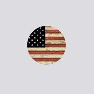 Woodcut US Flag note cards Mini Button