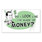 Made of Money Rectangle Sticker