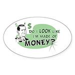 Made of Money Oval Sticker
