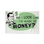 Made of Money Rectangle Magnet