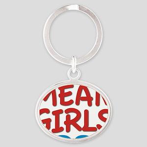 mean girls rock Oval Keychain