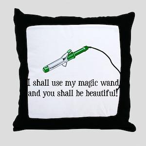 Beauty Shop Magic Throw Pillow