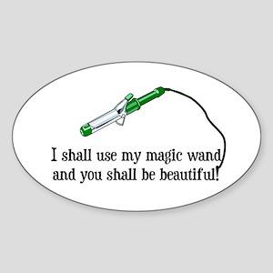 Beauty Shop Magic Oval Sticker