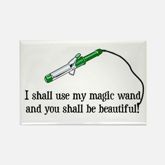 Beauty Shop Magic Rectangle Magnet