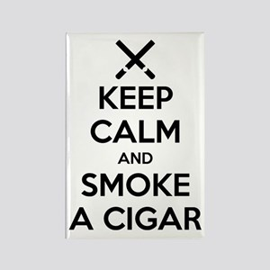Keep Calm And Smoke A Cigar Magnets
