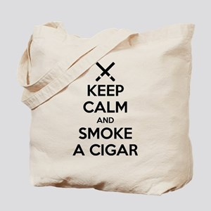 Keep Calm and Smoke a Cigar Tote Bag