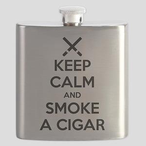 Keep Calm and Smoke a Cigar Flask