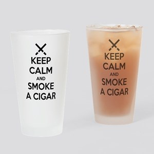 Keep Calm and Smoke a Cigar Drinking Glass