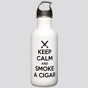 Keep Calm and Smoke a Cigar Water Bottle