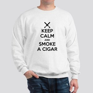 Keep Calm and Smoke a Cigar Sweatshirt