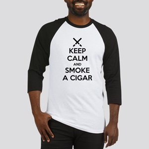 Keep Calm and Smoke a Cigar Baseball Jersey