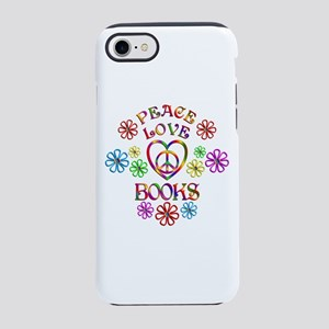 Peace Love Books iPhone 7 Tough Case