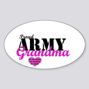 Army Grandma Oval Sticker