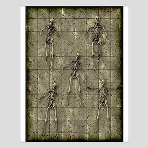 Brassy Skeletons Small Poster