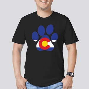 Colorado Paws Men's Fitted T-Shirt (dark)