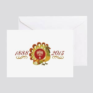 1888 Turkey Menorah Greeting Card