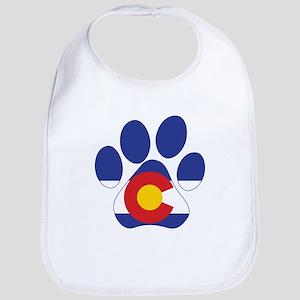 Colorado Paws Cotton Baby Bib