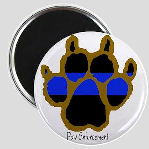 Brown Thin Blue Line Paw Enforcement Magnet