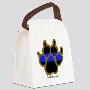 Brown Thin Blue Line Paw Enforcem Canvas Lunch Bag