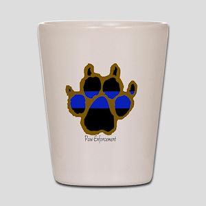 Brown Thin Blue Line Paw Enforcement Shot Glass