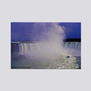 Horseshoe Falls And Boat Rectangle Magnet