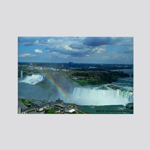 Niagara Falls Rainbow Rectangle Magnet