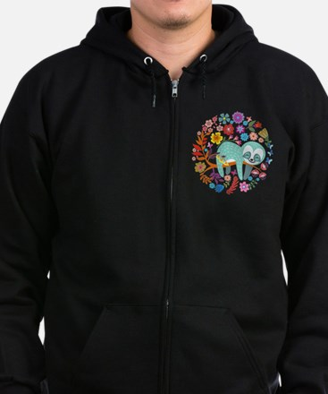 Unique Sloth Zip Hoodie (dark)