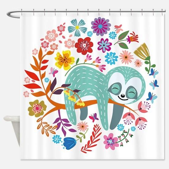 Unique Sloth Shower Curtain