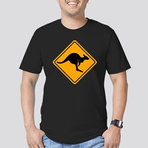 Kangaroo Sign A2 copy Men's Fitted T-Shirt (dark)