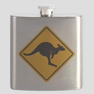 Kangaroo Sign A2 copy Flask
