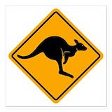 Kangaroo Square Car Magnets