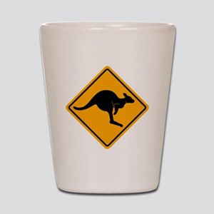 Kangaroo Sign A2 copy Shot Glass